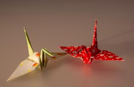origami stream building